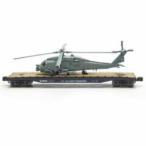 O GAUGE US ARMY MILITARY FLATCARs WITH HELICOPTER LIONEL MENARDS