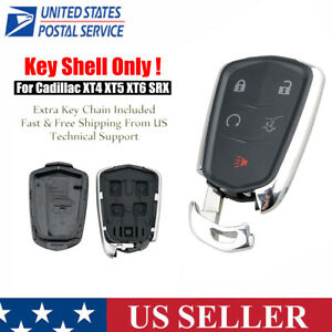 For 2015 2016 Cadillac ATS CTS SRX XTS 5 Buttons Remote Key Fob Case Shell $11.99
