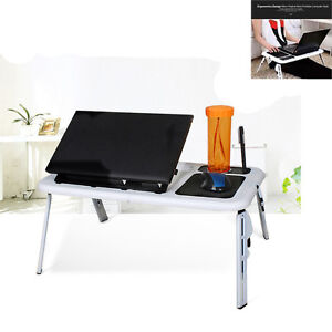Laptop Computer Desk Portable Table Bed Sofa Folding Adjustable Width Stand Tray $16.86