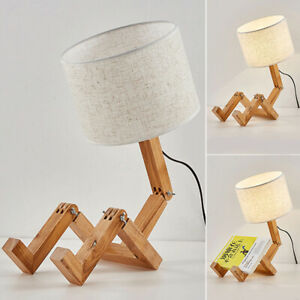 LED Table Lamp Interior Decoration Nordic Modern For Bedroom Robot Shaped C $38.99