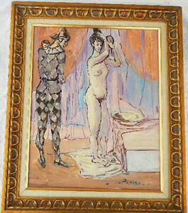 Modern Painting Vintage Study signed Picasso $225.00