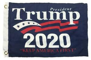 Trump 2020 Campaign Double Sided Boat Flag Reinforced Header NEW