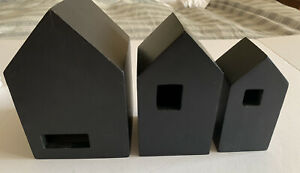 Hearth And Hand With Magnolia Nesting Houses Set Of 3 Black