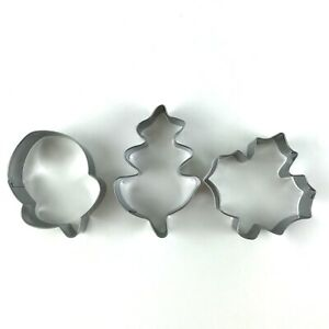 Cookie Cutters Fall Autumn Thanksgiving Maple Leaf Acorn Lot of 3 Holidays $3.00