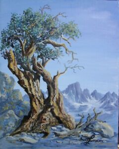 Lone tree in High Sierras Original Oil Painting by Irene Livermore $170.00