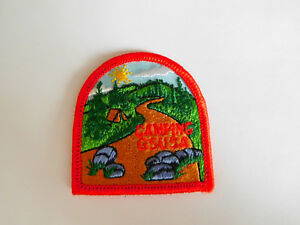 Girl Scouts USA CAMPING Iron On Patch