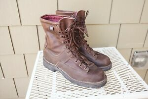 Danner Hood Winter Light Insulated 8 boots Brown Leather 9 Gore Tex USA Work $111.99