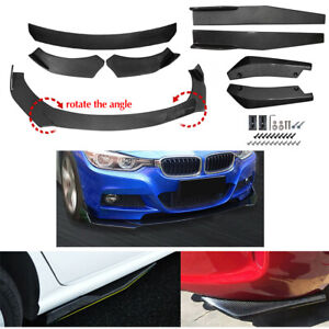 Carbon Fiber Look Side Skirt Rear Lip Front Bumper Spoiler Body kit Universal $89.92