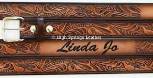 Name Belt Western Embossed 929 Made in USA Custom Engraved for Men and Women