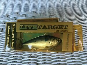 RARE KOPPERS LIVE TARGET GIZZARD SHAD 3 4 OZ. NEW OLD STOCK FREE SHIP