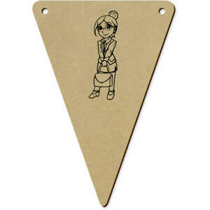 5 x 140mm #x27;Business Lady#x27; Wooden Bunting Flags BN00063433