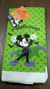 Disney MICKEY MOUSE Halloween 2 Pack Kitchen Hand Towel 100% Cotton *BRAND NEW*