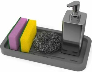 GOOD TO GOOD Silicone Sponges Holder Kitchen Sink Organizer Tray for Sponge S