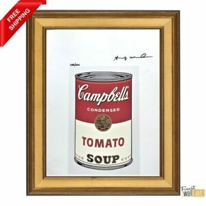 Campbell Soup by Andy Warhol Original Hand Signed Print with COA $610.00