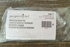 PAMPERED CHEF #2308 Nesting Measuring Spoon Set NEW In Package