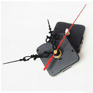 DIY Quartz Movement Silent Clock Mechanism Black and Red Hand Part Kit Tool US