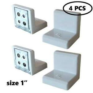 SL 1quot;x1quot;x1quot; 90 Degree Metal Right Angle Bracket Shelf Support with Plastic Cove $4.99