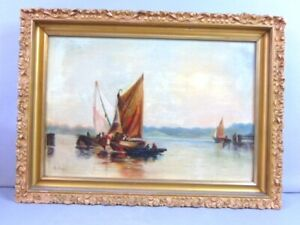 ANTIQUE SEASCAPE PAINTING BY LISTED ARTIST M. BOPP $750.00