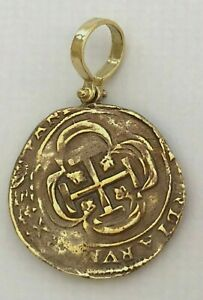 ATOCHA Coin Pendant 925 Sterling Silver Antique Gold Treasure Shipwreck Coin $59.00