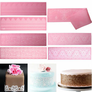 Cake Border Decoration Lace Mold Silicone Sugar Fondant Lace Pad DIY Baking Tool