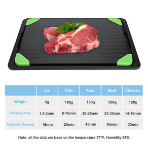 Fast Defrosting Tray Aluminum Rapid Thawing Plate Kit for Meat Fast Frozen Food
