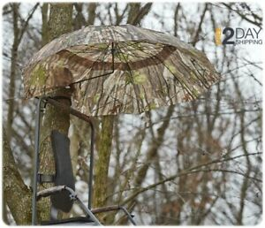 Large 54quot; Umbrella Deer Hunting 2 Person Tree Stand Ground Conceal Steel Frame