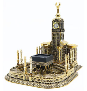 Islamic Turkish Table Decor 99 Names of Allah Kaba Clock Tower Replica Large