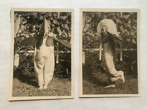 2 1950#x27;s Original Photographs of a Girl in Halloween Costume $28.50