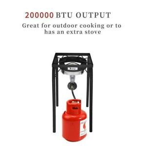 New Outdoor 200000 BTU Cooking Gas Single Burner Stove BBQ Grill Camp Picnic US