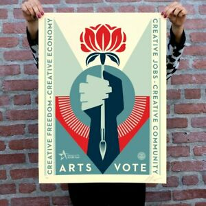 ArtsVote Obey Piece signed and limited 1 500 Confirmed order $125.00