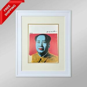 Mao 1973 by Andy Warhol Original Hand Signed Print with COA $330.00