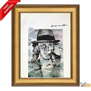 Joseph Beuys in Memoriam by Andy Warhol Original Hand Signed Print with COA $300.00