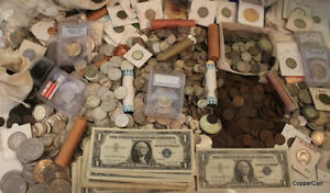 ESTATE SALE OLD US COINS SILVER UNCIRCULATED LOT VINTAGE COLLECTION GOLD