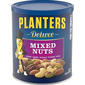 Planters Deluxe Roasted Salted Mixed Nuts Cashew Almond Hazelnut Pecan Pistachio $12.49