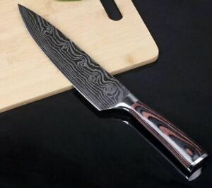 Stainless Steel 8quot; Professional Chef Knife Damascus Pattern Japanese New $13.99