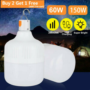 Portable LED Camping Light USB Rechargeable Outdoor Lantern Lamp Flashlight Tent