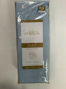 Wamsutta Dream Zone Pima Cotton Light Blue 725 Thread Count King Fitted Sheet NE