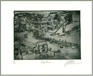 Cape Ann Massachusetts Original ETCHING Signed Limited Edition Art Print $45.00