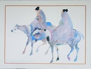 CAROL GRIGG Editions Gallery Lithograph of Watercolor Native American Cherokee $149.99