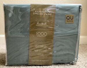 Wamsutta Dream Zone 1000 Thread Count PimaCott Queen Sheet Set Solid Teal
