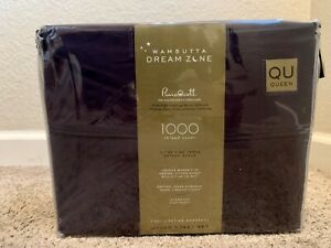 Wamsutta Dream Zone 1000 Thread Count PimaCott Queen Sheet Set Solid Navy