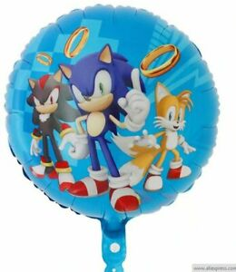 Balloon 18 Sonic Mylar Foil for Birthday Party Decorations Gifts Baby Shower