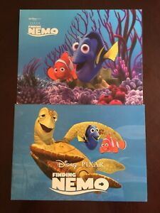 2003 and 2012 Disney Store Finding Nemo Lithographs Two Sets of Four 8 Total $19.99
