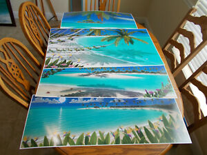 Dan Mackin Lithograph Set of 4. All Hand Signed by Artist. Wyland and Disney Art $110.00