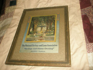 Vintage Chester Van Nortwick Wichita Ks. advertising Print Signed and titled $38.00