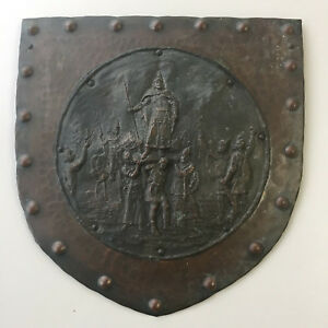 Vtg Hungarian Wall Art Bronze Sculpture Relief Arpad Prince of Magyars 8quot; $219.99