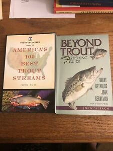 Lot 2 Beyond Trout Flyfishing Guide Gierach America's 100 Best Trout Streams Ros