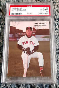 1990 Best #132 Jeff Bagwell New Britain Red Sox XRC RC Rookie HOF PSA 10 RARE