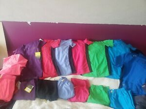 HUGE Lot of 7 scrub sets outfits 16pc SMALL WonderWink Four Stretch 4 stretch