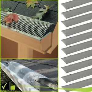 PACK OF Hinged Unpainted GUTTER GUARD Cover Screen Debris Leaf Protection 3FT $35.98
